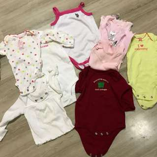 Tops newborn to 6 months Carters and Target brand