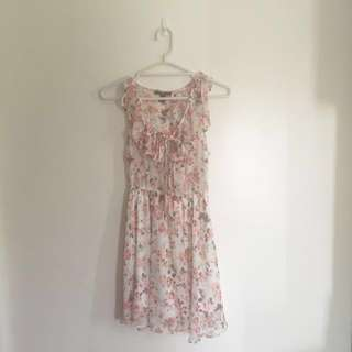 Forever 21 Floral Printed Chiffon Dress