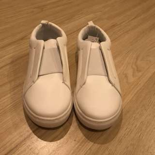 Women's White Laceless Sneakers from UK