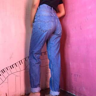 Highwaist blue mom jeans