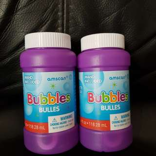 Birthday party goodies bag bubbles bulles solution toy