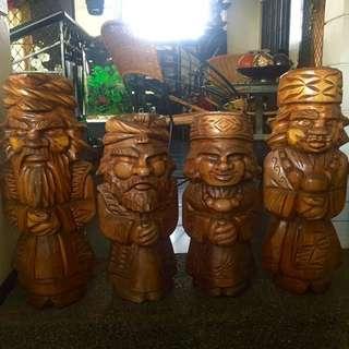 Set of 4 Big Ainu Dolls (Very Heavy)