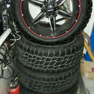 """20"""" rim + tire 4sets"""