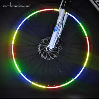 Refetive stick for bicycle wheel