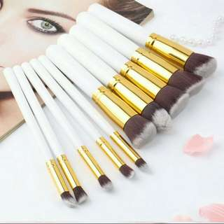 New kabuki 10pcs brush set