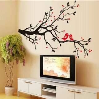 Wall Sticker - Love Birds on Blossom