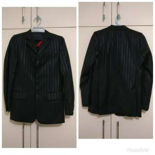 🈹 Black stripped Blazer and Vest 黑色間條西裝外套及背心