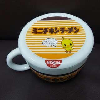 NISSIN 日清食品 瓷杯 水杯 連瓷蓋
