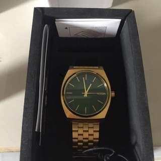 Jam tangan Nixon Timeteller Gold Sunray Green