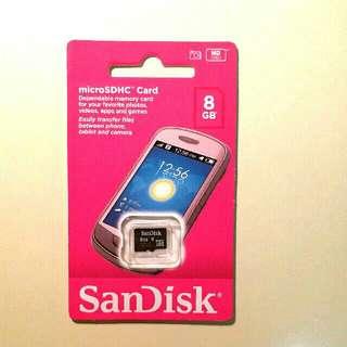 SanDisk 記憶卡 8GB MicroSDHC card