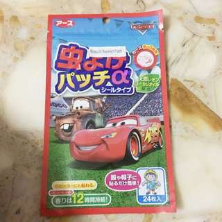 BNIP Disney cars mosquito repellant patch ( made in korea )