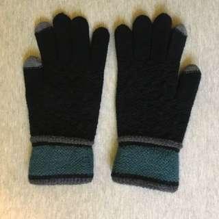 保暖針織手套 手襪 (可觸螢幕)