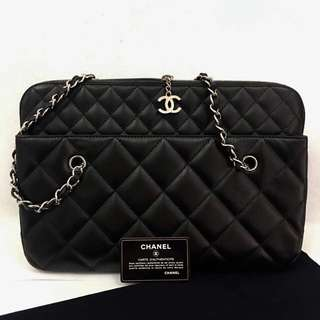 Authentic Chanel tote shopping