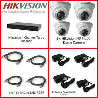 Cctv Hikvision 4 channel Package