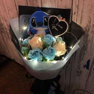 Stitch With Scented Roses With led Lighting Bouquet