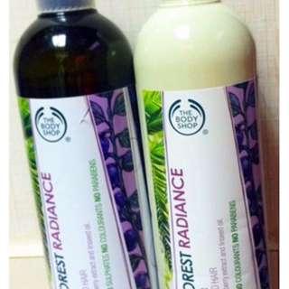 Bodyshop Rainforest Radiance Shampoo and Conditional
