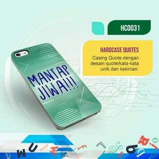 "Premium ""Mantap Jiwa"" Hardcase/Softcase (Bs Request Design)"