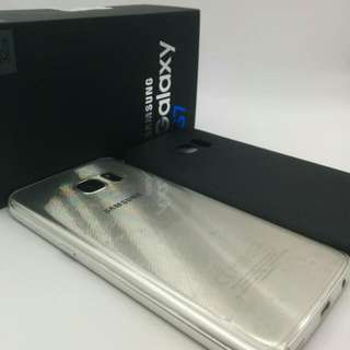 32gb Sg Set Samsung S7 Silver Full Box  Back With Protector Pasted  Dual Sim Sg Local Set  Samsung Galaxy 32gb Smart Phone  Free Black Case Given  MHFEB
