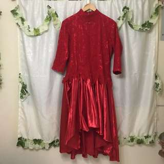 PLUS SIZE Red Cocktail Dress