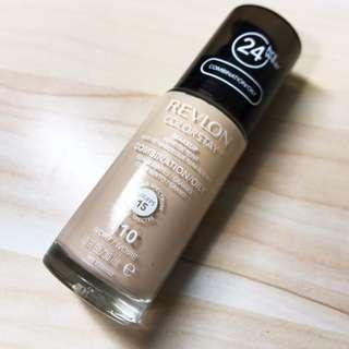 露華濃 Revlon 超持色輕透粉底液110 淺膚色 油皮適用 白白白 德古拉der粉底