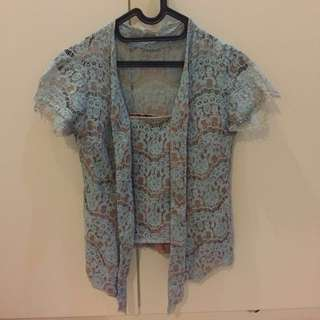 Baby Blue Kutubaru Top by Makaio