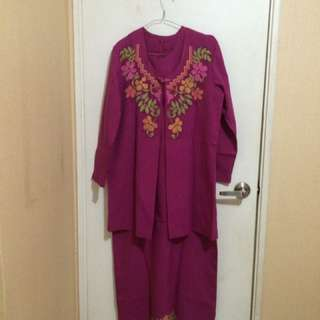Dress with outer