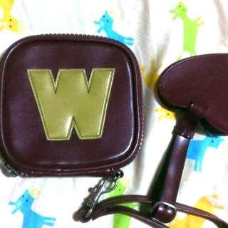 🚚 W.&L.T 暗紅色皮革錢包