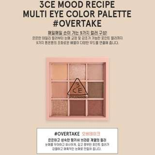 Last Preorder >> authentic only 3ce stylenanda mood recipe multi eye colour palette eyeshadow overtake