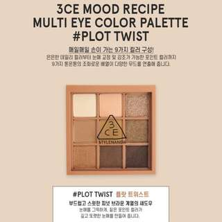 Last Preorder >> authentic only 3ce stylenanda mood recipe multi eye colour palette eyeshadow plot twist
