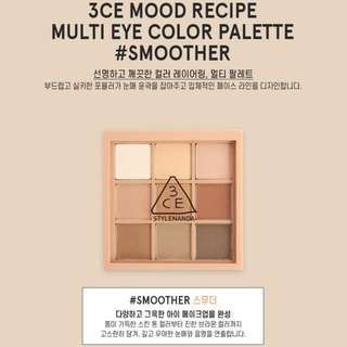Last Preorder >> authentic only 3ce stylenanda mood recipe multi eye colour palette eyeshadow smoother