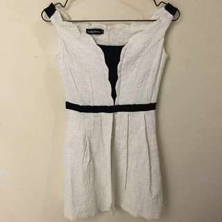Something Borrowed White Sabrina Flare Dress