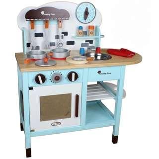 (PO) BN Wooden Tiffany Blue Children Kitchen Play Set