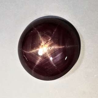 Cabochon.Ruby with 6 points star 12.5 carats