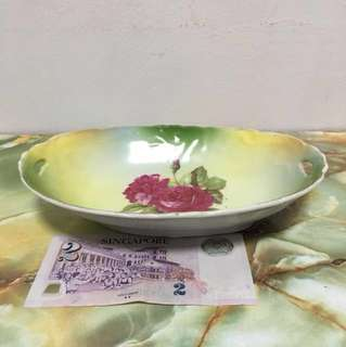Vintage Porcelain Floral Dish Made In Gemany