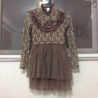 Vintage Lace and Tulle Dress