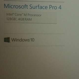 Brand new Microsoft Surface Pro 4