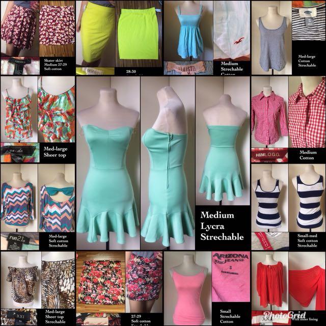 25pcs assorted blouses/dress FREESHIPPING