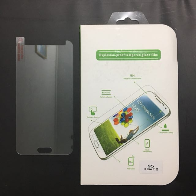 Samsung S5 - 9H Tempered Glass Screen Protector