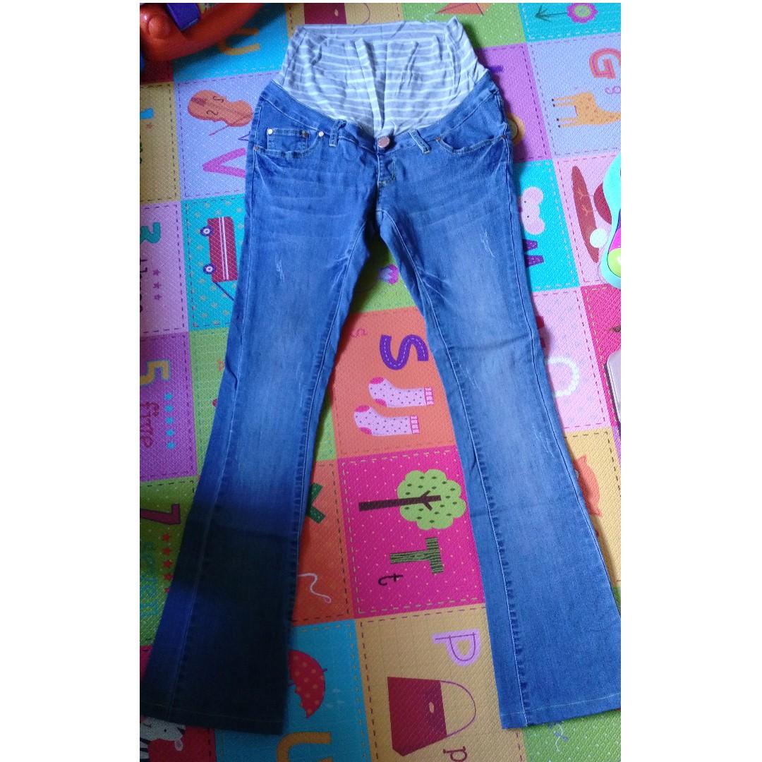9成新「US mammy」牛仔微喇孕婦褲 Size:S