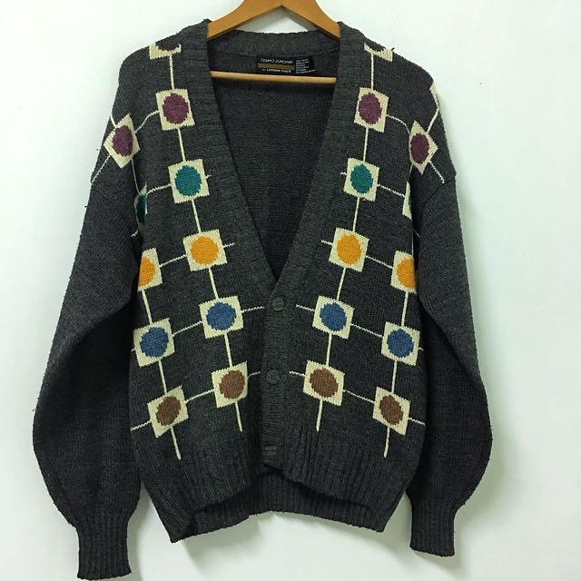 韓製復古針織外套