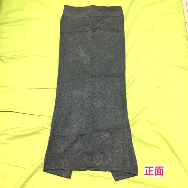 全新灰色針織窄裙