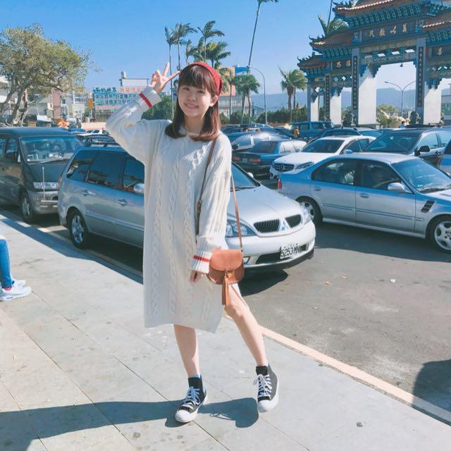 針織麻花洋裝