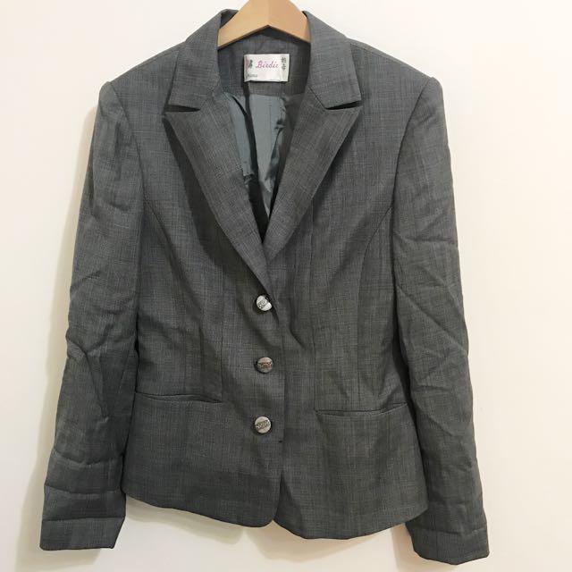 英倫風格紋學院西裝外套