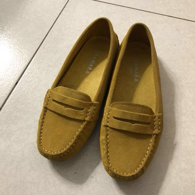專櫃貨 豆豆鞋 休閒鞋  黃色