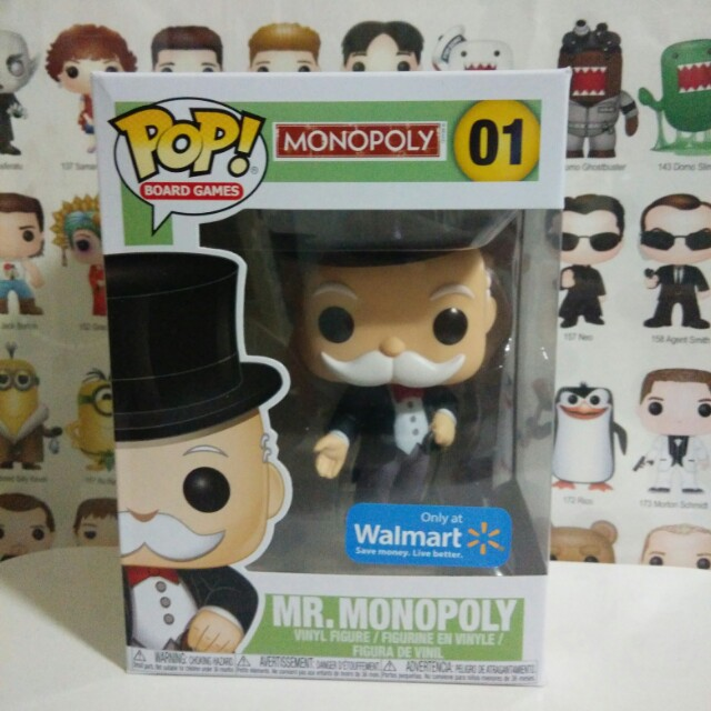 * Damaged Box Clearance Sale * Funko Pop Mr Monopoly Walmart Exclusive Vinyl Figure Collectible Toy Gift Board Games