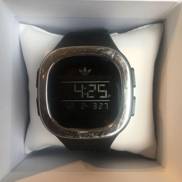 Adidas black digital watch