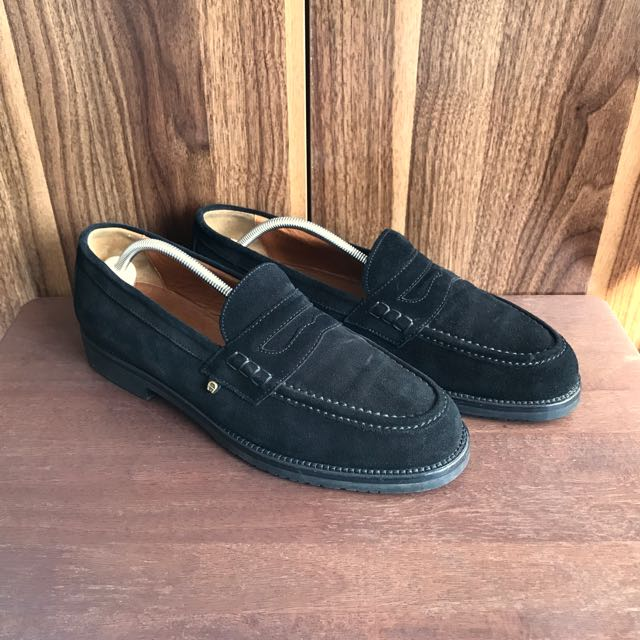 Aigner Suede Penny Loafers Formal