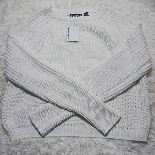 (FREE SHIPPING) AMERICAN APPAREL CROPPED FISHERMAN SWEATER