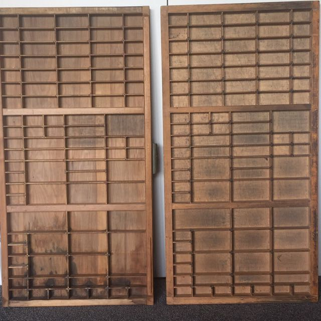 Antique Printers Trays!!