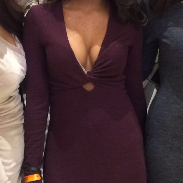 Aritzia Wilfred free XS Paige dress in maroon